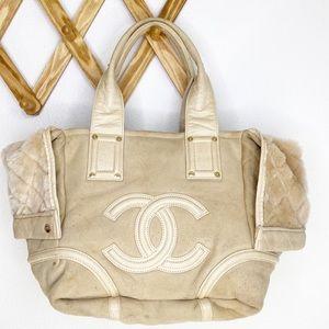 CHANEL shearling tote bag